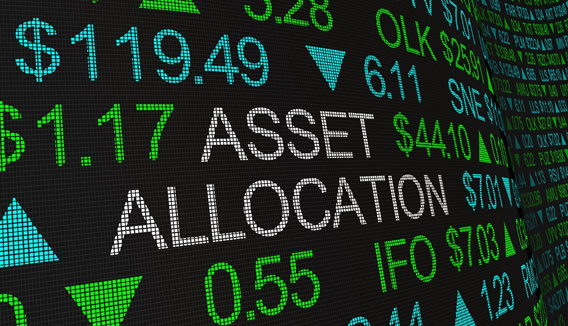 Asset Allocation Portfolio Management Stock Market Investment Illustration