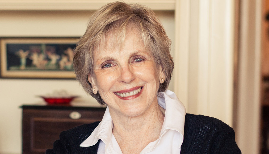 close up portrait of money columnist jane bryant quinn