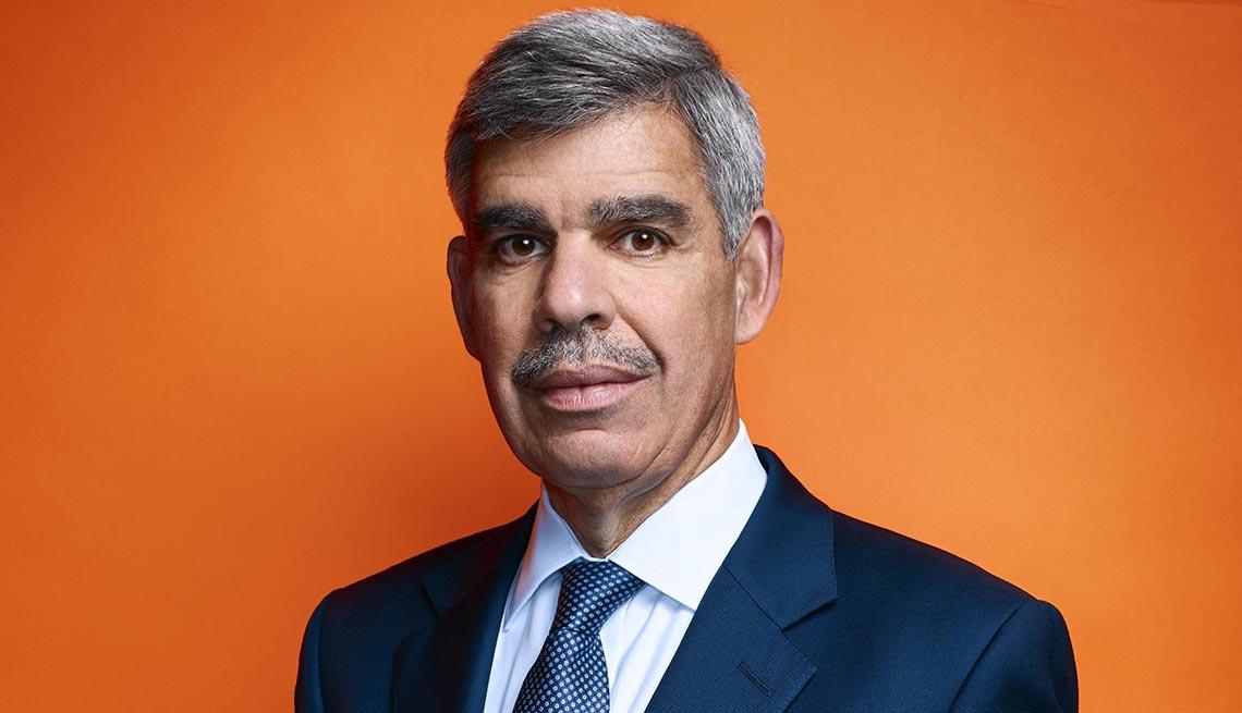 close up portrait of mohamed el erain a chief economic advisor