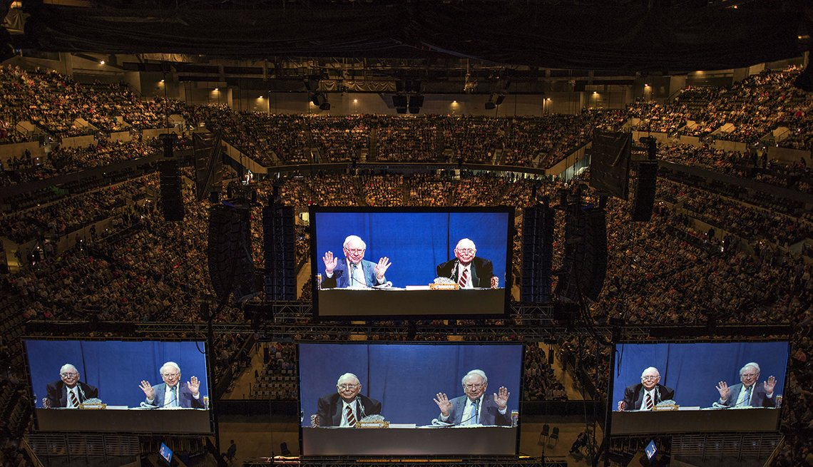 item 8, Gallery image. Some 40,000 people attended Berkshire Hathaway's annual meeting in 2015, marking Warren Buffett's 50th year running the company.