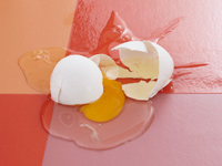 Ways to save on food expenses - Broken egg lying on floor