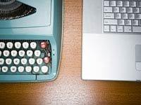 Máquinas de escribir y la computadora portátil. Consejos para la compra de productos electrónicos usados.