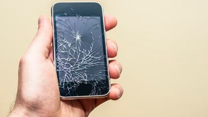 cracked cellphone screen, buy new or repair