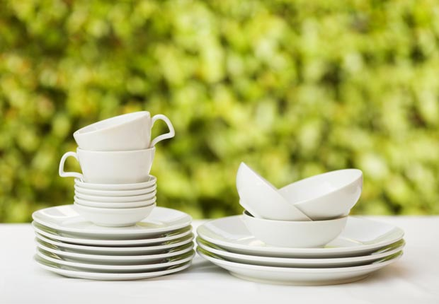 Stack of clean dishes (Irina Pusepp/Alamy)