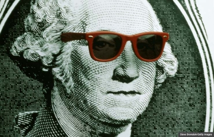 George Washington wearing sunglasses, Summer Savings Quiz