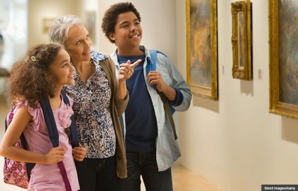 Grandmother and kids visiting museum, Summer Fun for Kids (and You) on the Cheap (Blend Images/Alamy)