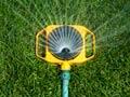 Una regadora de pasto - Maneras de mantener sus gastos de jardín controlados este verano