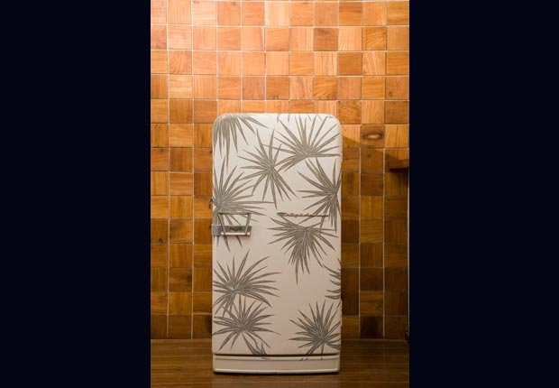 Magnetic decorative covers for kitchen appliances. (Getty Images)