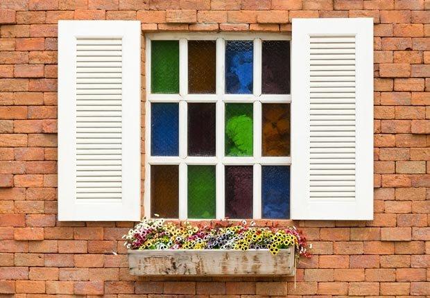 Decorative adhesive covers for windows. (Natkamol Panomnantakit/Alamy)