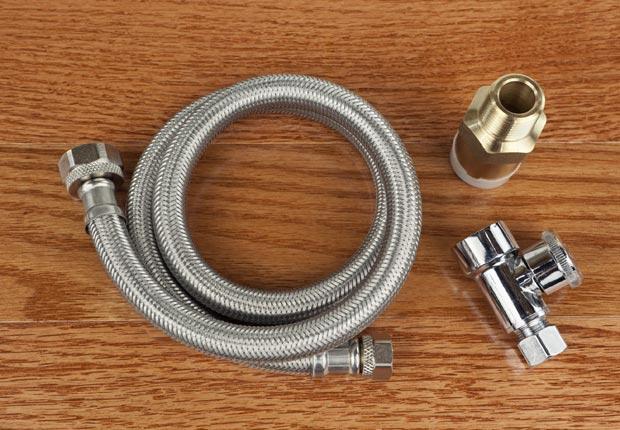 Stainless steel hoses for washing machine. (Don Nichols/Istockphoto)
