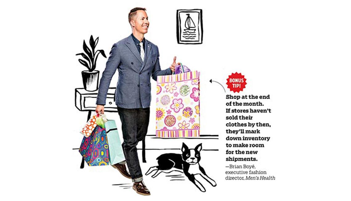 Brian Boyé, gerente ejecutivo de moda de la revista Men's Health nos muestra algunas maneras de ahorrar