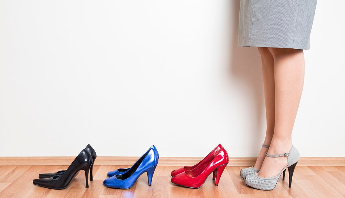 Women's Shoes in a Line, Common Spending Regrets