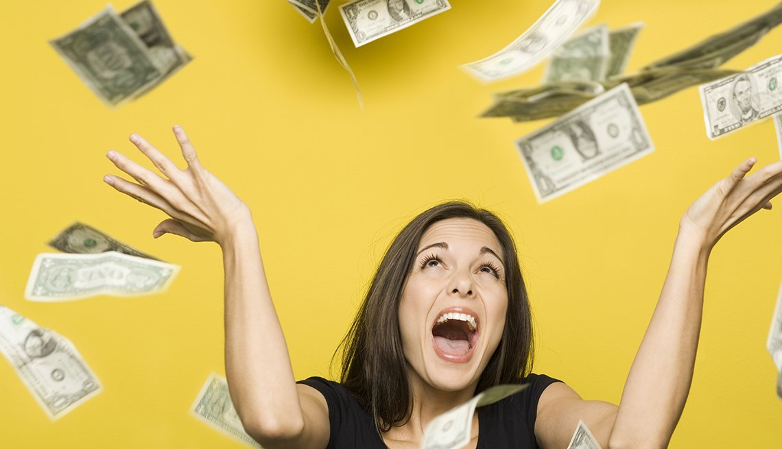 Raining Money Woman Hands Up, Common Spending Regrets