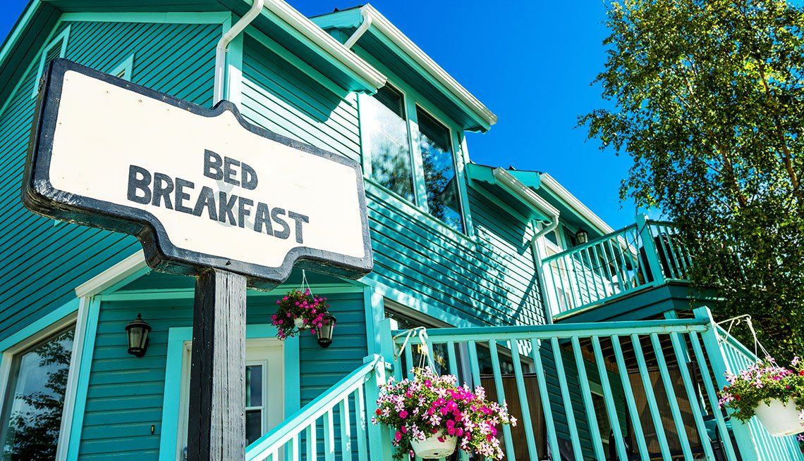 bed and breakfast sign on a house