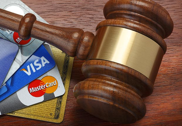 Credit cards in court, bankruptcy.