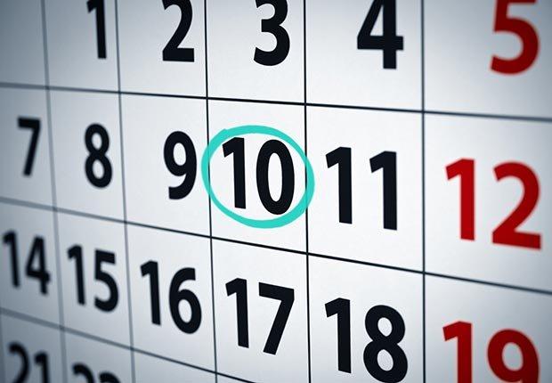 Calendario - 10 errores que se deben evitar en sus vacaciones
