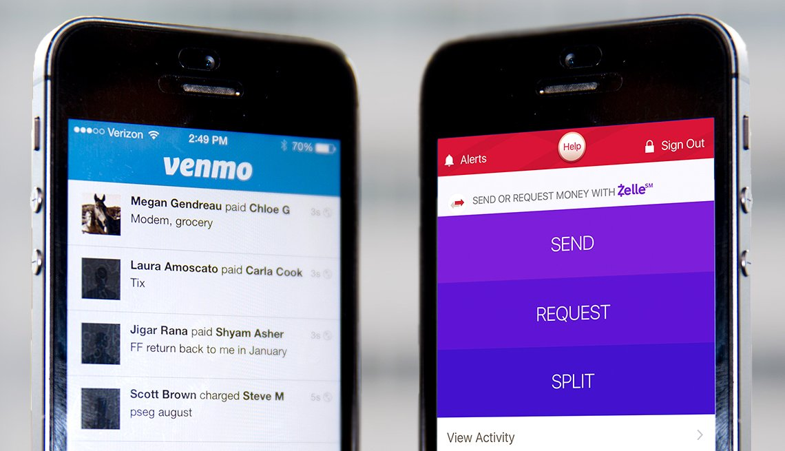 Digital wallets VENMO vs. Zelle