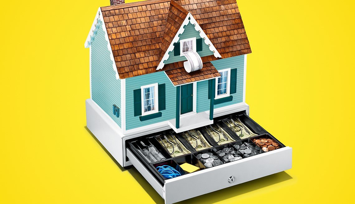 Caja resgistradora en forma de casa