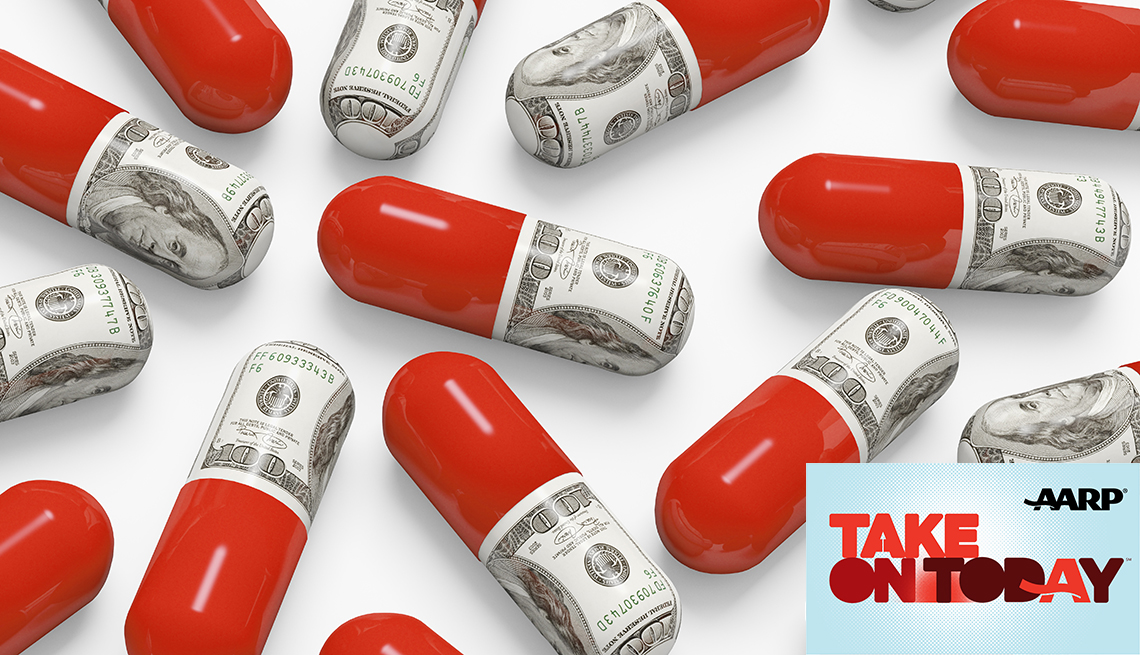Pills with money inside of them