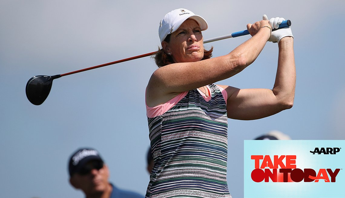 Golfer Julie Inkster