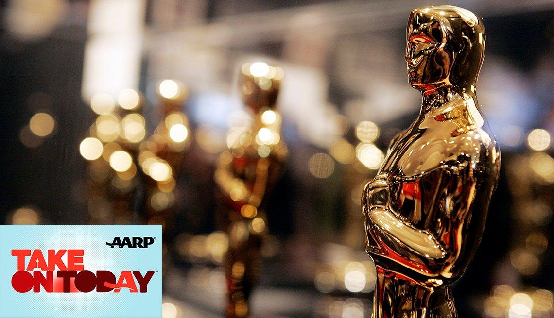 Oscars being displayed