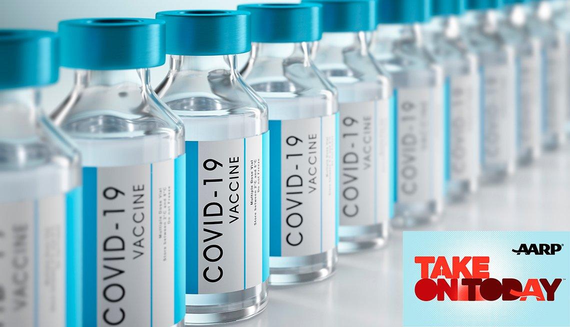 vaccine vials in a row