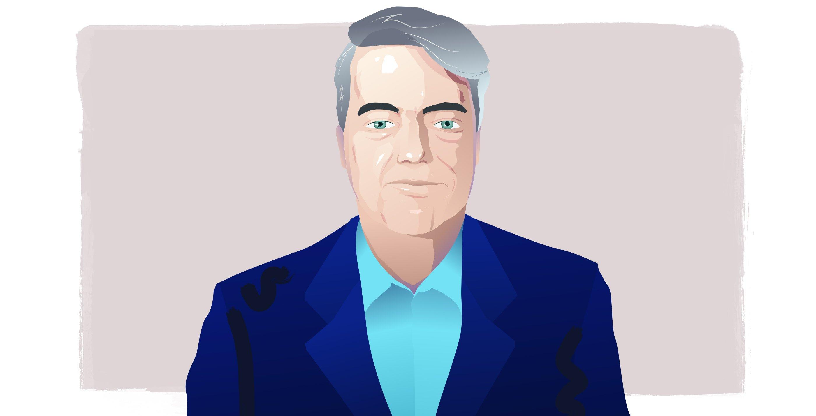 Graphic illustration of Bob Sullivan