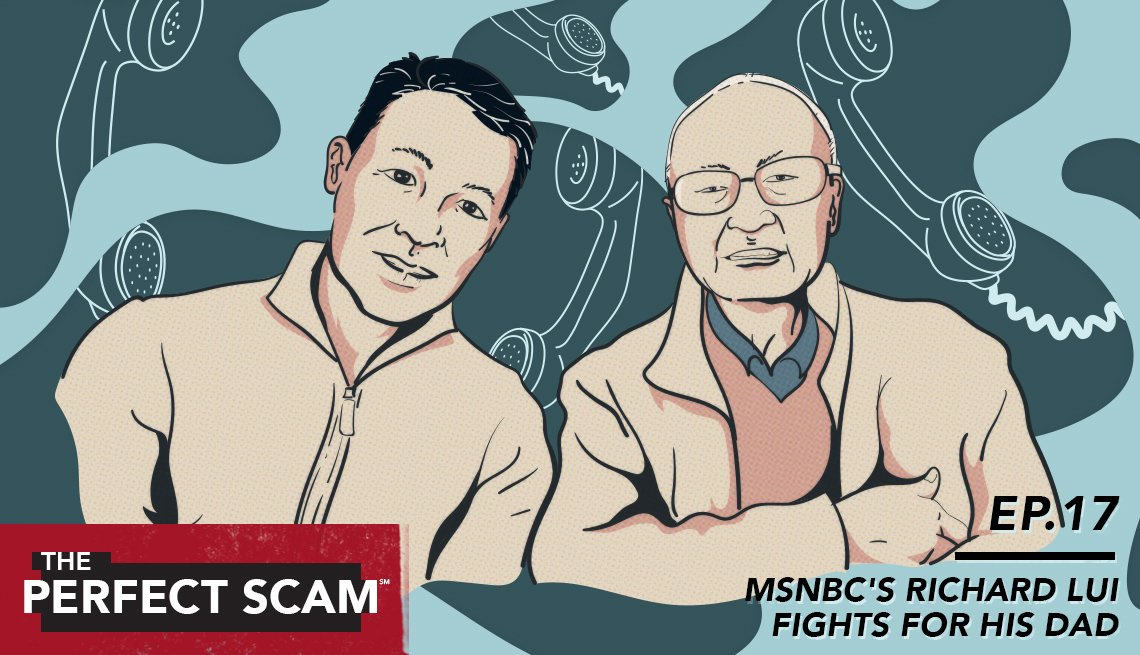 graphic of Richard Lui and his father