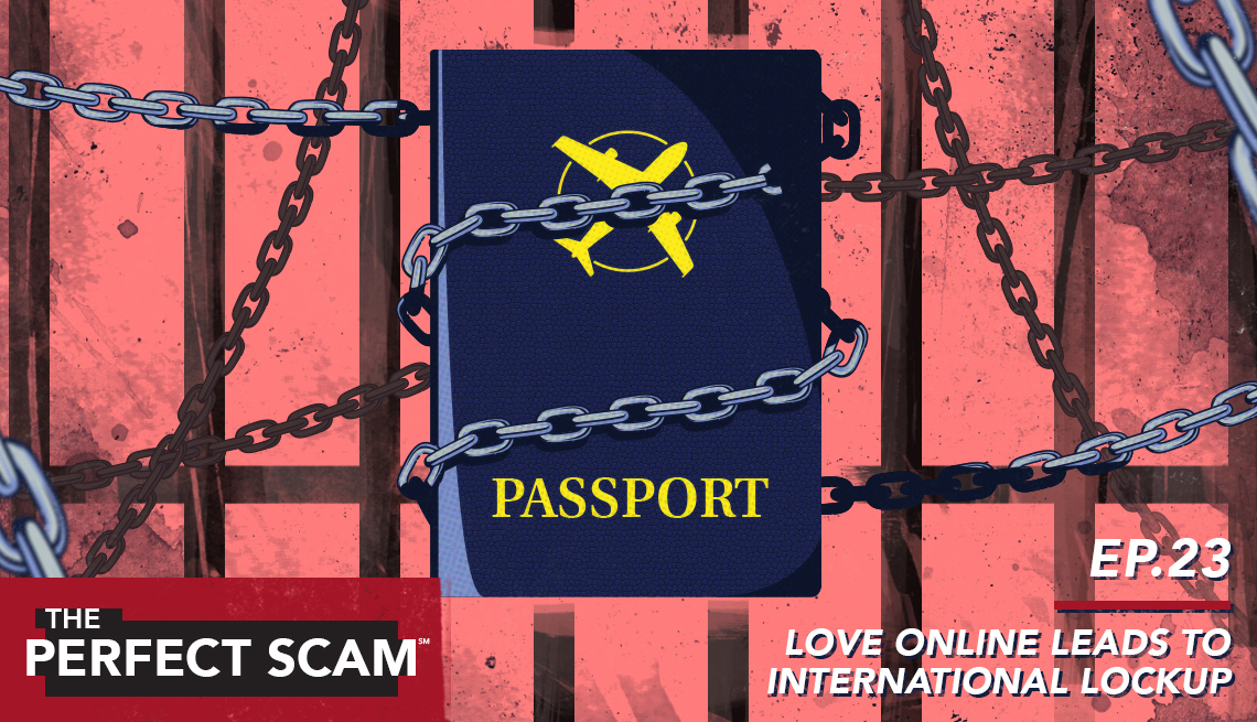 illustration of passport locked behind bars