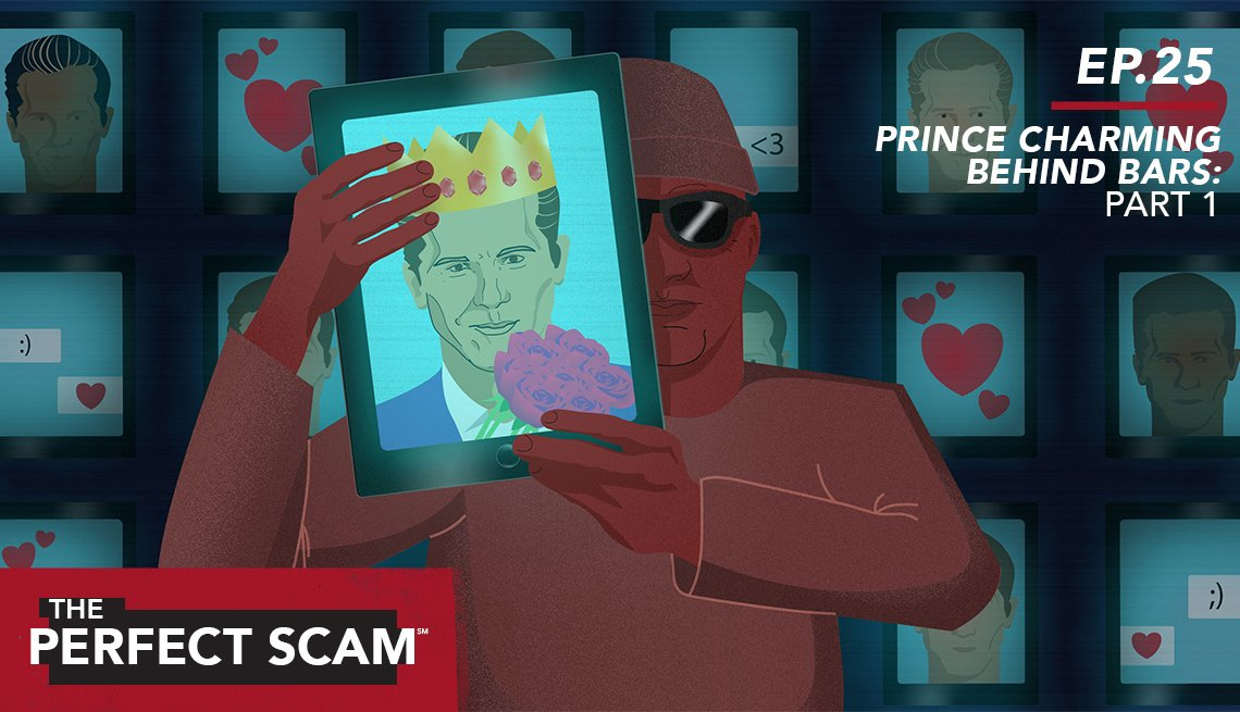 Illustration of romance scam