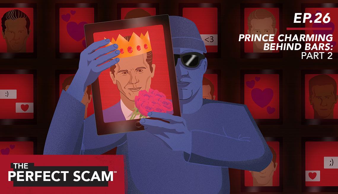Illustration of Prince Charming Behind Bars