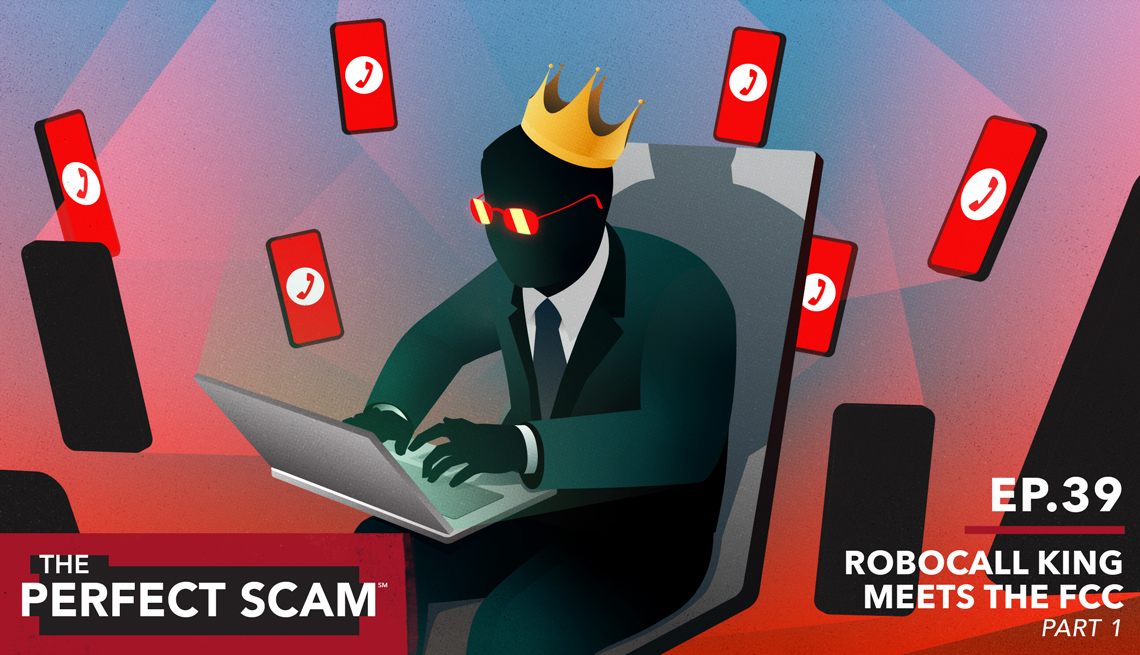 Graphic illustration for The Perfect Scam Episode 39