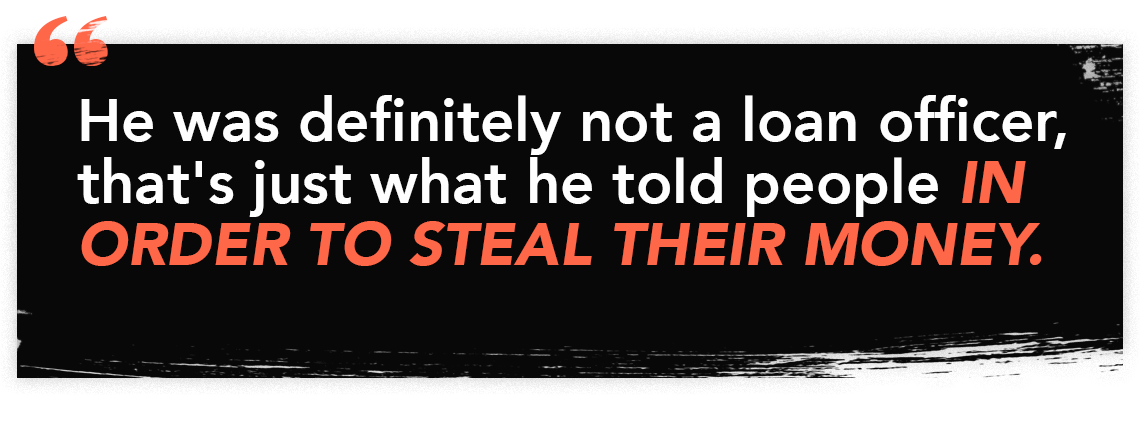Quote illustration graphic for episode 56 of the perfect scam