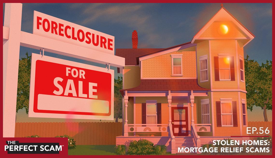 Foreclosure scam concept - graphic