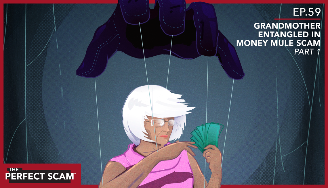 Grandmother Entangled in Money Mule Scam - promo illustration