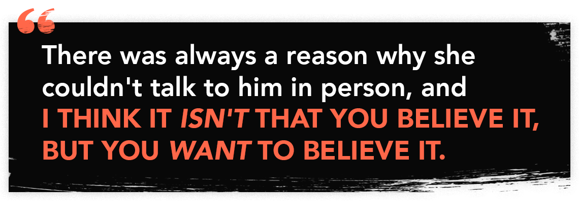 Quote graphic from episode 59 of the Perfect Scam
