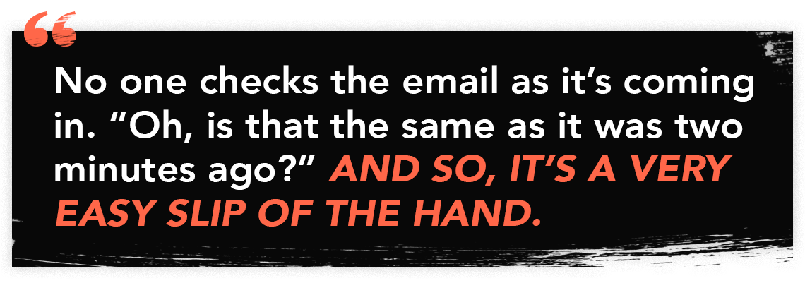 Quote graphic for episode 61 of The Perfect Scam