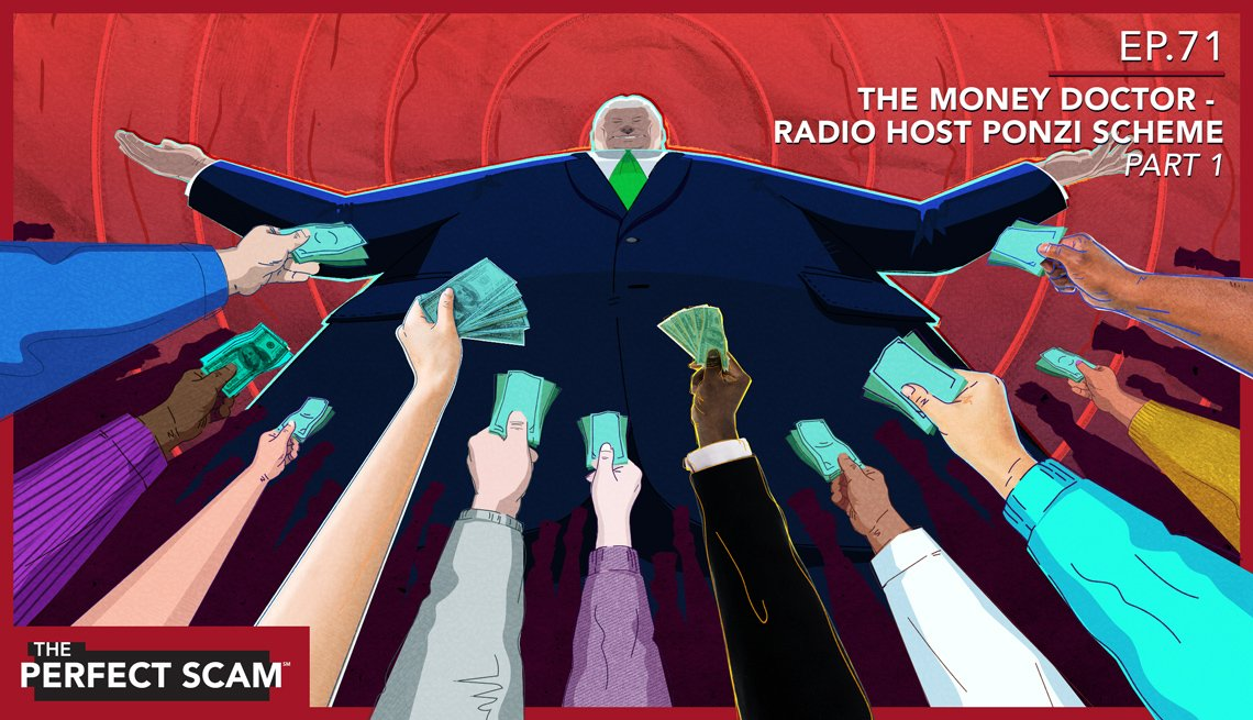 Episode graphic for The Money Doctor - Radio Host Ponzi Scheme