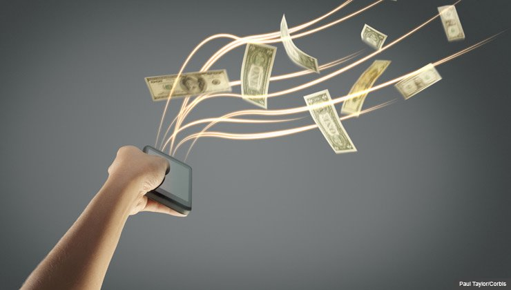 Hand Holding Smartphone with Money Flowing - Tips For Selling Online
