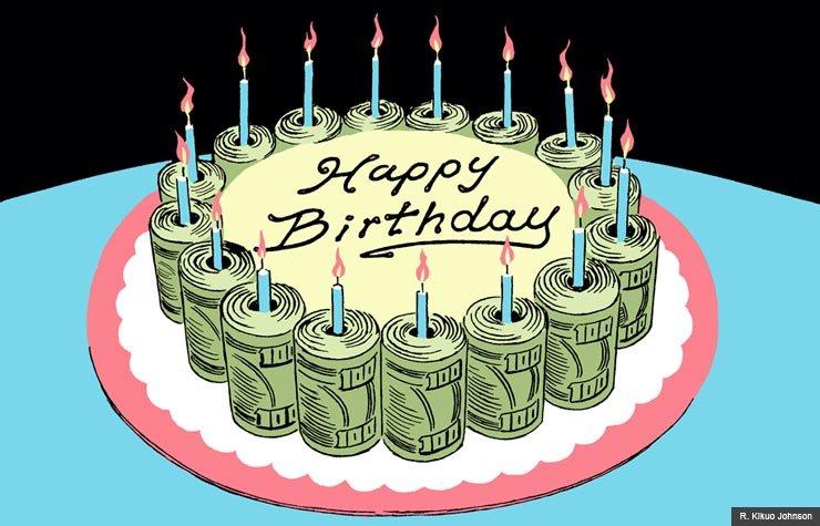 Retirement birthday cake