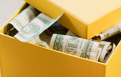 Yellow box full of money. Savings vehicles you probably aren't taking advantage of.