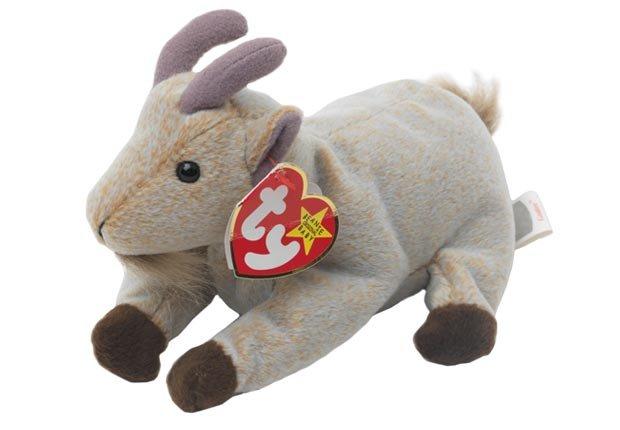 Beanie Baby Mountain Goat Por ty Peluche - Objetos coleccionables que le pueden generar dinero.