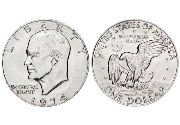 Eisenhower dollar (rusm/Getty Images)