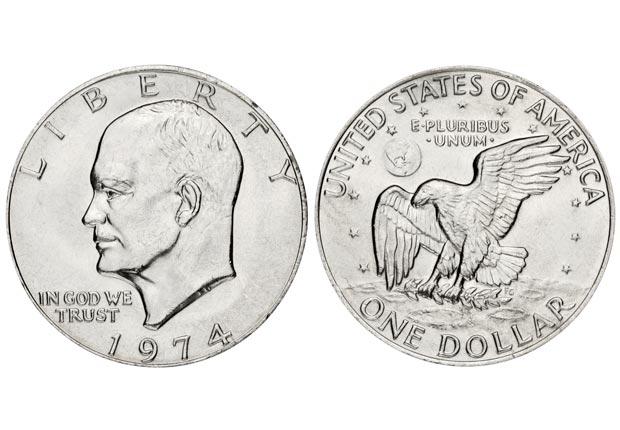 Eisenhower dollar (rusm/Getty Images)