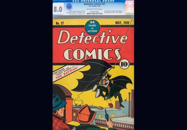 El primer libro de historietas de Batman - Objetos coleccionables que le pueden generar dinero.