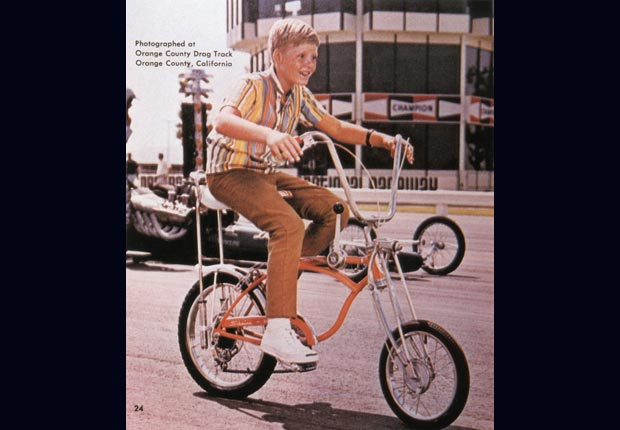 Child rides a Sting-Ray Orange Krate bike (Schwinn via Getty Images)