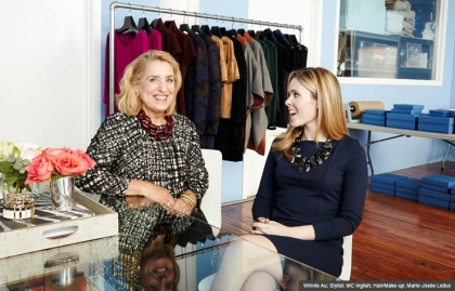 Halsbrook's Merchandising Advisor, Rosemary Audio and Founder and CEO Halsey Meyer Schroeder, The Longevity Economy (Winnie Au; Stylist: MC Inglish; Hair/Make-up: Marie-Josée Leduc)