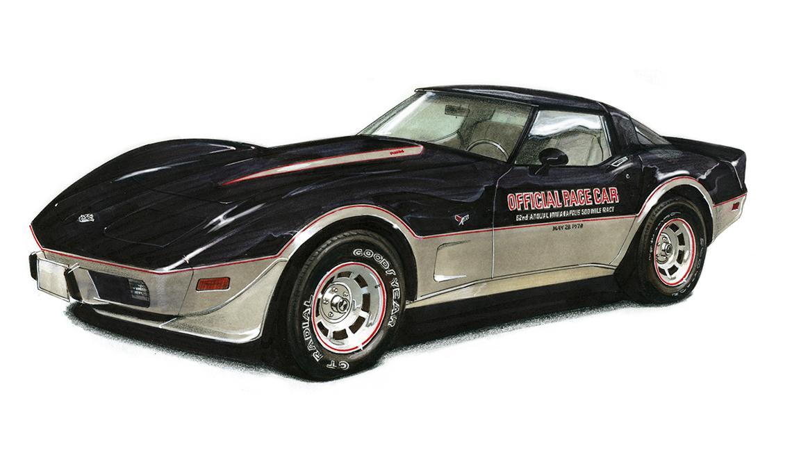 Convertible negro Chevy de 1978 de la edición Indy Car, artículos de colección de valor