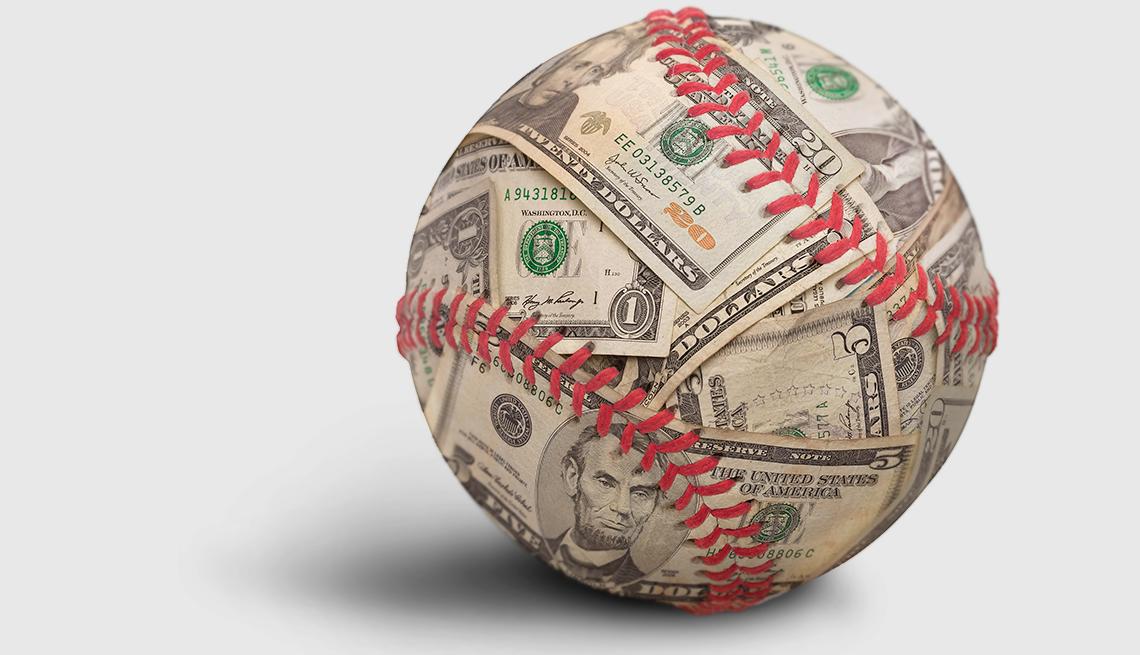 baseball made of money