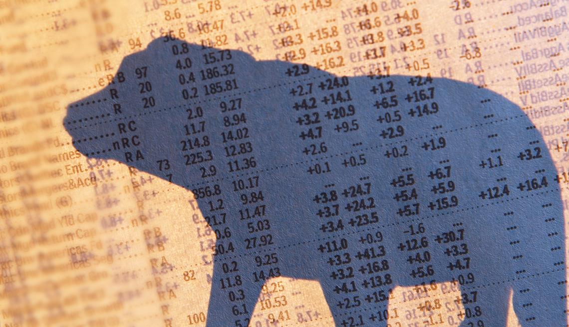 Bear silhouette market numbers